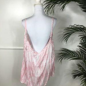 torrid Tops - Torrid Pink White Tie Dye Challis Swing Cami 4X